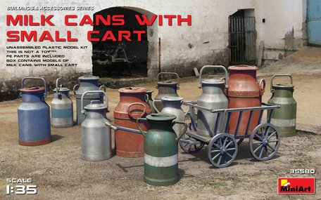MiniArt Milk Cans with Small Cart 1:35