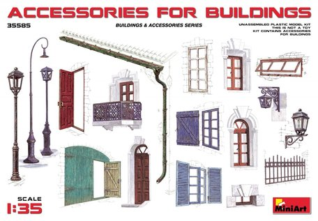 MiniArt Accessories for Buildings 1:35