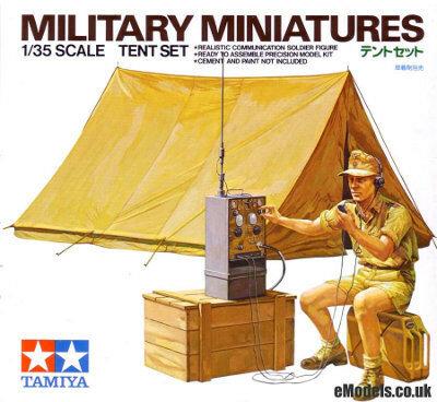 Tamiya Military Miniatures Tent Set 1:35