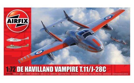 Airfix De Havilland Vampire T.11 / J-28C 1:72