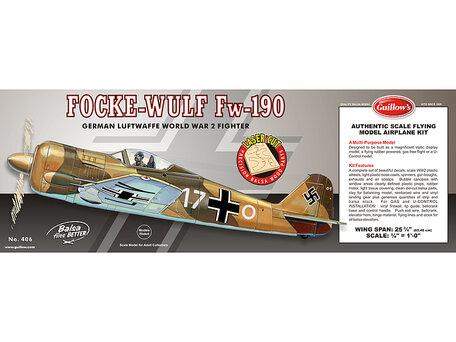 Guillow's Focke Wulf FW-190 1:16 (406)