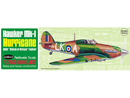 Guillow's Hawker Hurricane 1:30 (506)