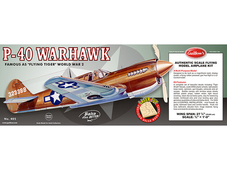 Guillow's P-40 Warhawk 1:16 (405)