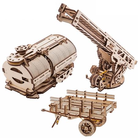 UGears 3 x Uitbreiding voor Truck UGM-11 (70018)
