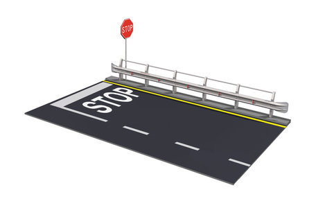Italeri Guard Rail and Road Section 1:24