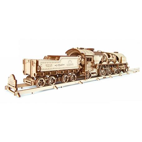 UGears V-Express Stoomtrein met Aanhangwagen (70058)