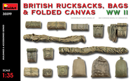 MiniArt British Rucksacks, Bags and Folded Canvas 1:35