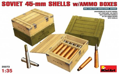 MiniArt Soviet 45-mm Shells with Ammo Boxes 1:35