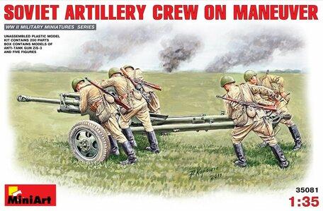MiniArt Soviet Artillery Crew on Maneuver 1:35