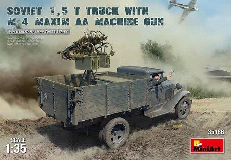 MiniArt Soviet 1,5 t. Truck w/ M-4 Maxim AA Machine Gun 1:35