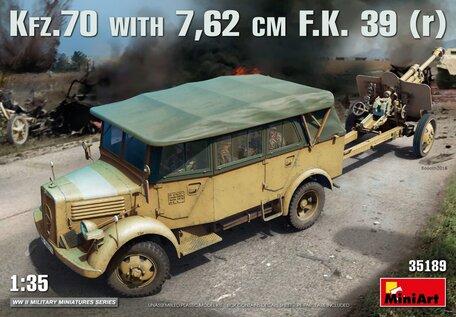 MiniArt Kfz.70 & 7,62 cm F.K. 39 (r) 1:35