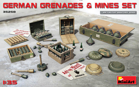 MiniArt German Grenades & Mines Set 1:35