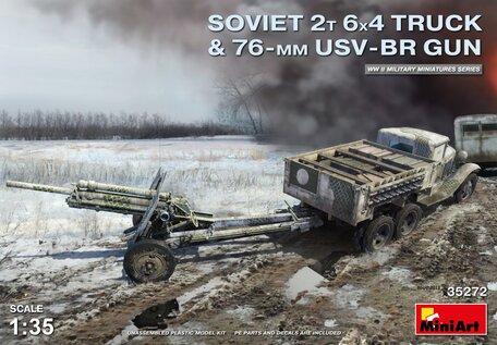 MiniArt Soviet 2T 6X4 Truck & 76-mm USV-BR Gun 1:35
