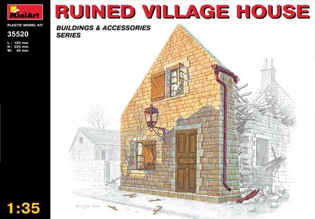MiniArt Ruined Village House 1:35