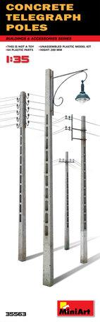 MiniArt Concrete Telegraph Poles 1:35