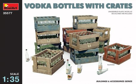 MiniArt Vodka Bottles with Crates 1:35
