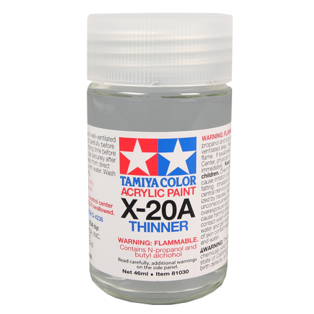 Tamiya X-20A: Acrylic Thinner 46 ml (81030)