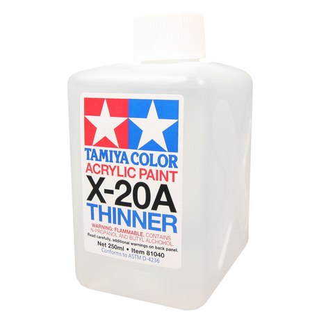 Tamiya X-20A: Acrylic Thinner 250 ml