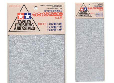Schuurpapier P180 / P240 / P320 (Tamiya)