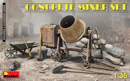 MiniArt Concrete Mixer Set 1:35