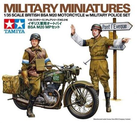 Tamiya British BSA M20 Motorcycle with Military Police 1:35