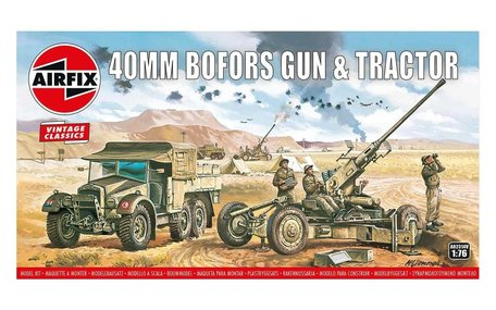 Airfix Bofors 40mm Gun & Tractor 1:76