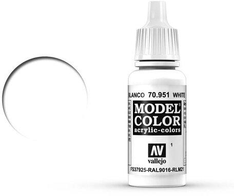 001. Vallejo Model Color: White (70.951)
