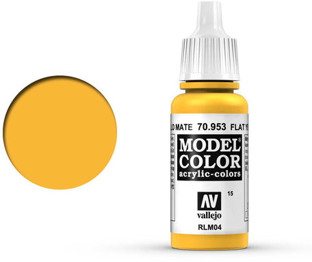 015. Vallejo Model Color: Flat Yellow (70.953)