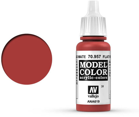 031. Vallejo Model Color: Flat Red (70.957)
