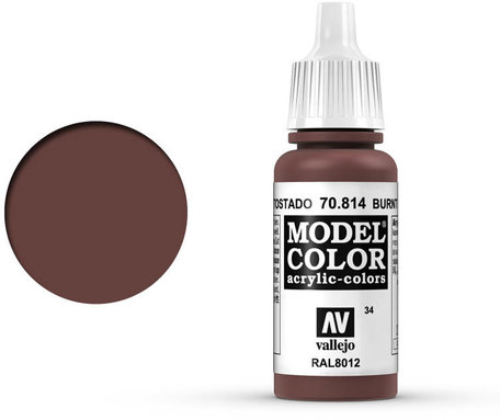 034. Vallejo Model Color: Burnt Red (70.814)
