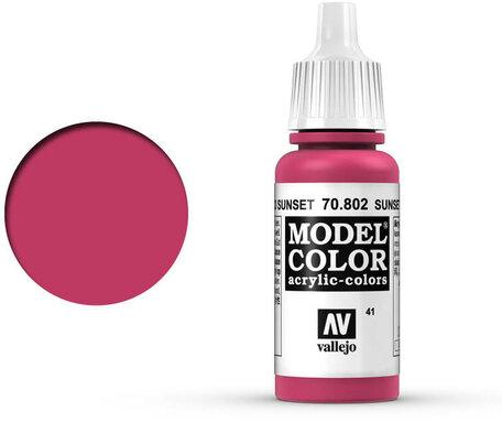 041. Vallejo Model Color: Sunset Red (70.802)