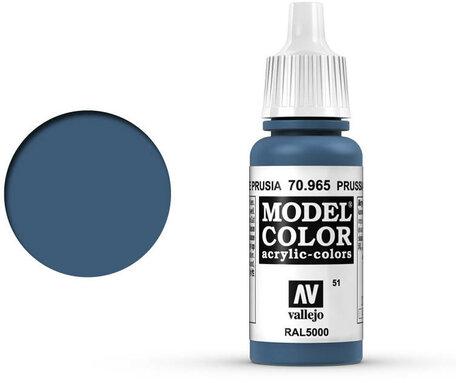 051. Vallejo Model Color: Prussian Blue (70.965)