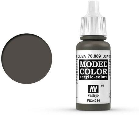 091. Vallejo Model Color: USA Olive Drab (70.889)