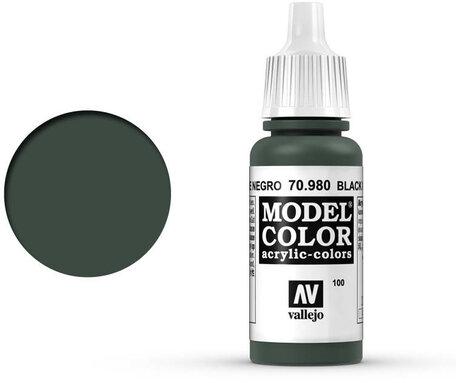 100. Vallejo Model Color: Black Green (70.980)