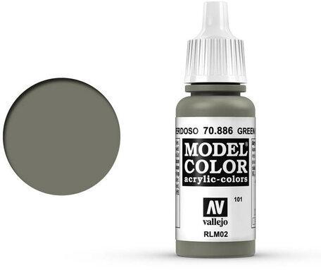 101. Vallejo Model Color: Green Grey (70.886)