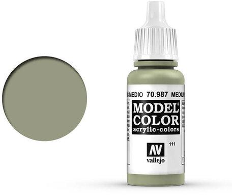 111. Vallejo Model Color: Medium Grey (70.987)