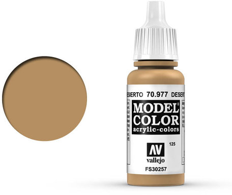 125. Vallejo Model Color: Desert Yellow (70.977)