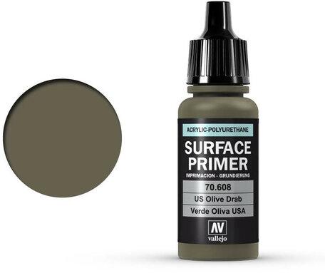 Vallejo Surface Primer: U.S. Olive Drab (70.608)