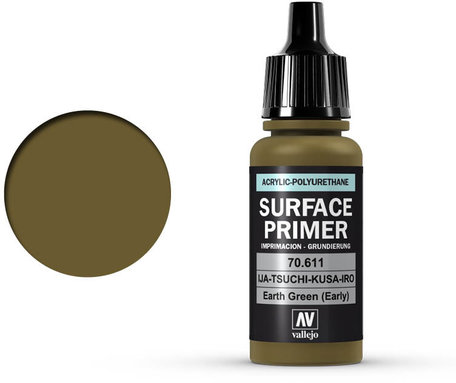 Vallejo Surface Primer: Earth Green (70.611)