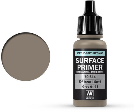 Vallejo Surface Primer: IDF Israeli Sand Grey (70.614)