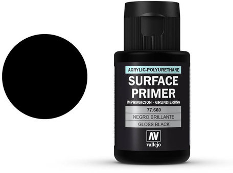 Vallejo Surface Primer: Gloss Black (77.660)