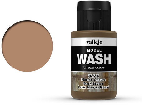 Vallejo Model Wash: Dark Brown (76.514)