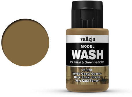 Vallejo Model Wash: Dark Khaki Green (76.520)