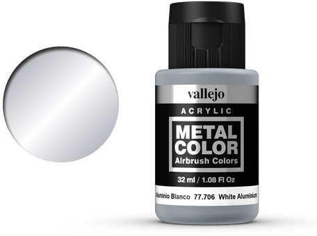 Vallejo Metal Color: White Aluminium (77.706)