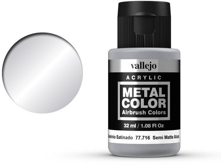Vallejo Metal Color: Semi Matte Aluminium (77.716)