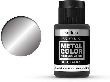 Vallejo Metal Color: Gunmetal Grey (77.720)