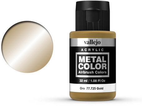 Vallejo Metal Color: Gold (77.725)