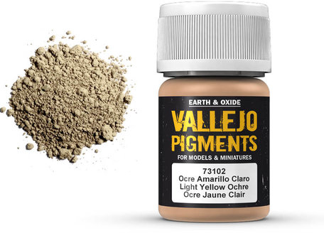 Vallejo Pigment: Light Yellow Ochre (73.102)