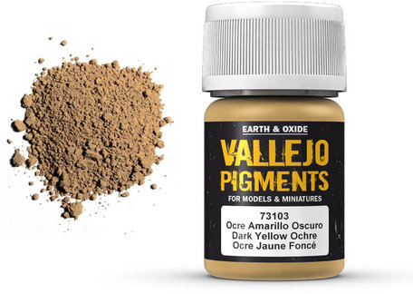 Vallejo Pigment: Dark Yellow Ochre (73.103)