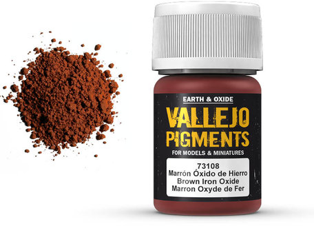 Vallejo Pigment: Brown Iron Oxide (73.108)